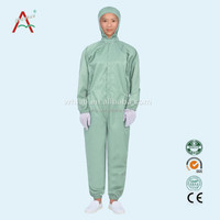 5mm Grid/stripe polyester Cleanroom antistatic bunny suit