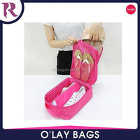 Polyester wholesale italian matching custom shoe and bag with zipper