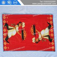 100% cotton thick tea towel printing on tea towel