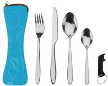 stainless steel travel cutlery set with case
