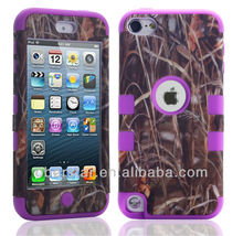 New Hot Straw Grain Three in One Cover Hard Case For Apple iPod Touch 5