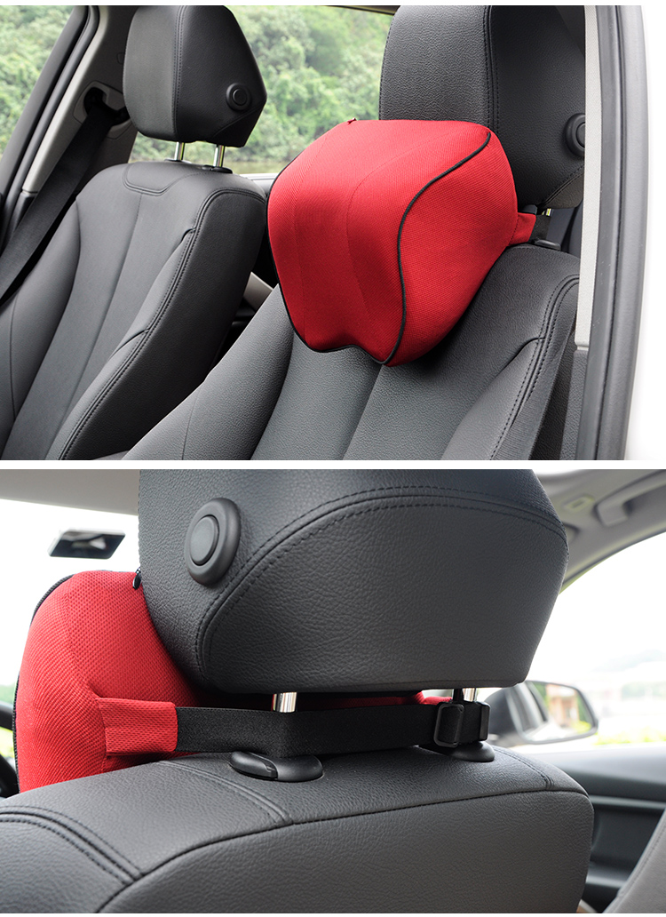 BYC Car Seat Head Neck Support Pillow 70D Memory Foam Neck Rest Pillow