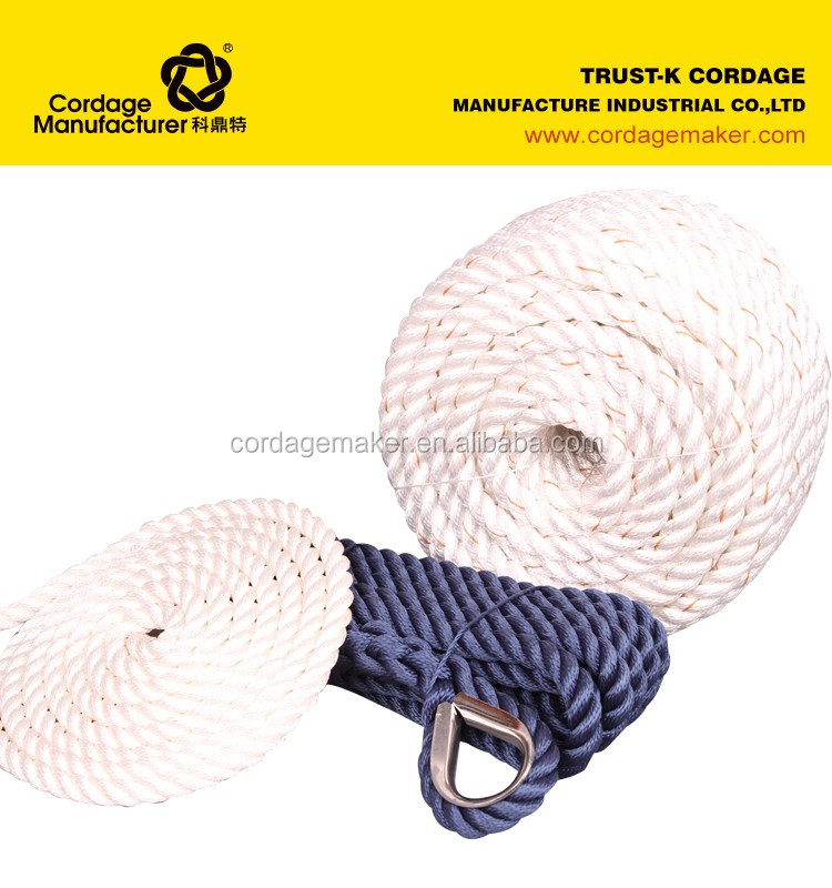marine rope of dock line and anchore line waterproof rope