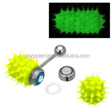 charming cheap glow in the dark vibrating silicone tougue ring new arrival piercing jewelry
