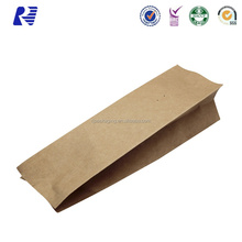 Hot Sale plastic coated kraft brown paper bags for packing nuts