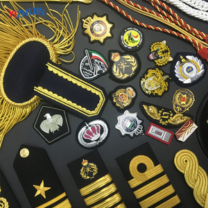 Military Rank Epaulette and Badge Security Shoulder Royal Gold Bullion Fringe Epaulettes Formal Army Police Uniform Accessories