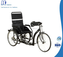 manual disabled tricycle with 3 wheels wheelchair for handicapped people