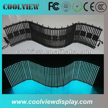 P10 flexible curtain led display 10000 dots DIP and SMD choosable
