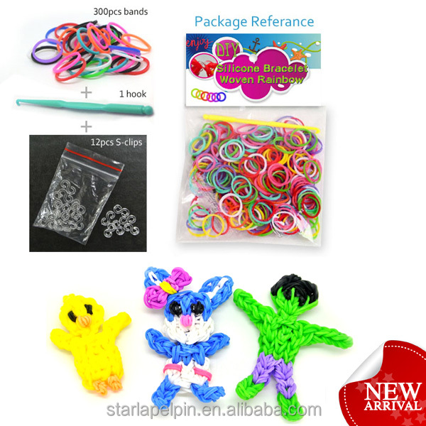 Fluorescent neon crazy loom bands wholesale rubber band diy loom