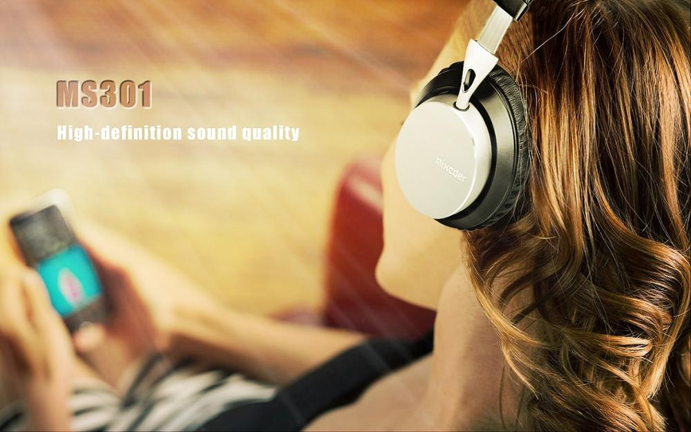 Mixcder MS301 aptX Metal Wireless Bluetooth Headphones Foldable Over-ear Stereo Deep Bass Headset with Microphone for iPhone
