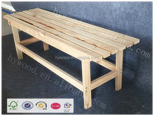 factory cheap antique anticorrosion outdoor fir solid wood pine home garden park rest furniture simple long wooden bench design