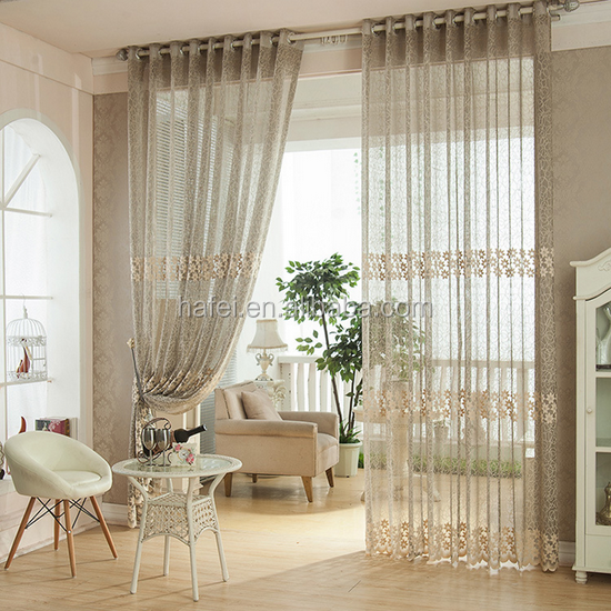 classic floral window screening jacquard sheer curtain