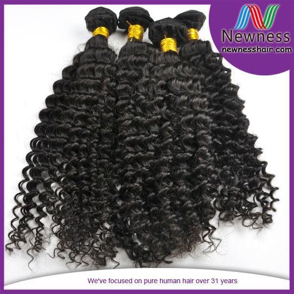 Virgin Wet And Wavy Brazilian Micro Bead Human Hair Extensions Sew In Hair Weave For Black Woman