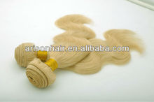 Most popular products 2014 ,hand tide weft Malaysian virgin hair #613 color, crochet hair extension,stock lot for sale