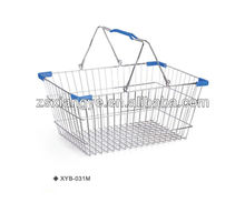 New Hot 2012 XYB-031 L 20L Steel Chrome Wire Shopping Basket