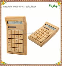Portable bamboo solar calculator & notebook solar calculator bamboo and wooden material
