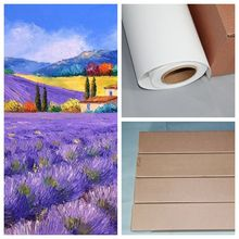 Matte Polycotton Wide Format Inkjet Canvas Roll