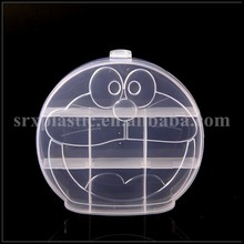 China supplier cartoon shape plastic organizer for small objects,round shape plastic storage box wholesale,plastic mini case