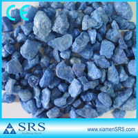 Unpolished blue colored gravel for landscaping