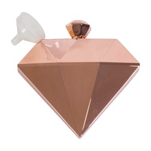 Rose gold Diamond Flask Sublimation Stainless Steel Wine Pot 5OZ hip flask