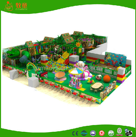 shopping mall game center high quality blue commercial special forest style project kidshigh quality kids indoor playground maze
