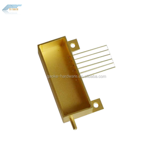 Microwave electronic components hermetic seal metal package