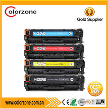 Compatible color toner cartridge HP CF380A CF380X CF381A CF382A CF383A