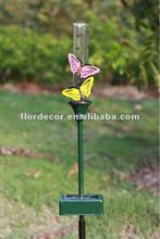 Metal butterfly solar rain gauge light SO3149