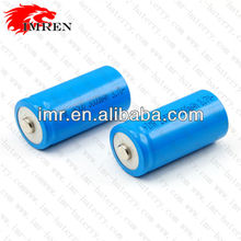 IMR 26500 3000mah rechargeable 3.7V Li-Mn Button top Batteries (1pc)