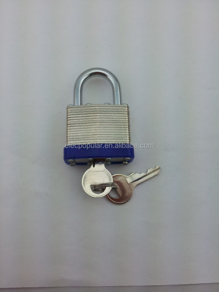 padlock supplier! 2014 Laminated safety padlock with hardened steel shackle