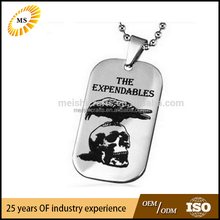Titanium steel The Expendables Necklace Skull Pendant Dog Tag for Men Nice Gift