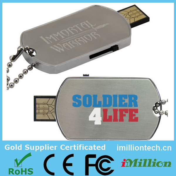 USB Dog Tag, Dog Tag USB Pen Drive, Military USB Flash Drive