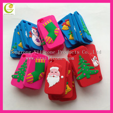 Pretty Cute Christmas Series Santa Claus Pattern Silicone Phone christmas phone cases for iphone cases 5 5S 5C