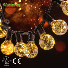 merry christmas string light led mini copper wire G40 Globe Bulb 12Bulbs 18ft led christmas decoration village light