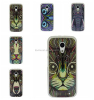 Animal Face Tpu Soft Back Case For Motorola Moto G 2nd Gen