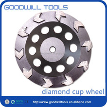Cheap Arrow segment diamond Grinding Cup Wheel for grinding masonry material