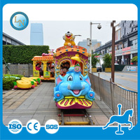 Musical amusement park kiddie indoor electric road train