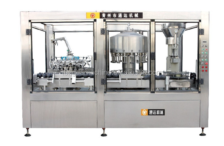 fully automatic 3 in 1 wine filling machine wine washing filling and capping machine