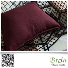 Cotton/Linen Soft Lumbar Solid Color Cushion/Pillow For Sofa And Chair (45x45 or customized)