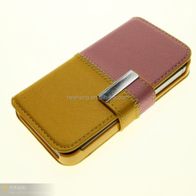 Dual color PU leather cases for iphone 5 5s 4 4s and for samsung galaxy S3 I9300 note 2 N7100