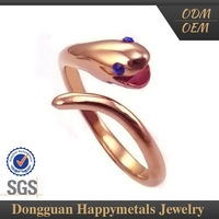 Personalized Design Ring To Half Of The Finger With Sgs Certification