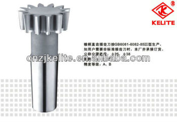 TAPER-SHANK STRAIGHT TEETH GEAR SHAPING CUTTER m3