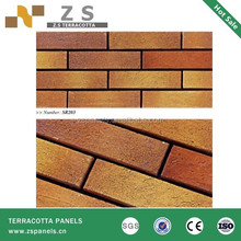 Consruction material Terracotta outside wall decorative tiles , Klinker spain style, draw-crude split wall tiles
