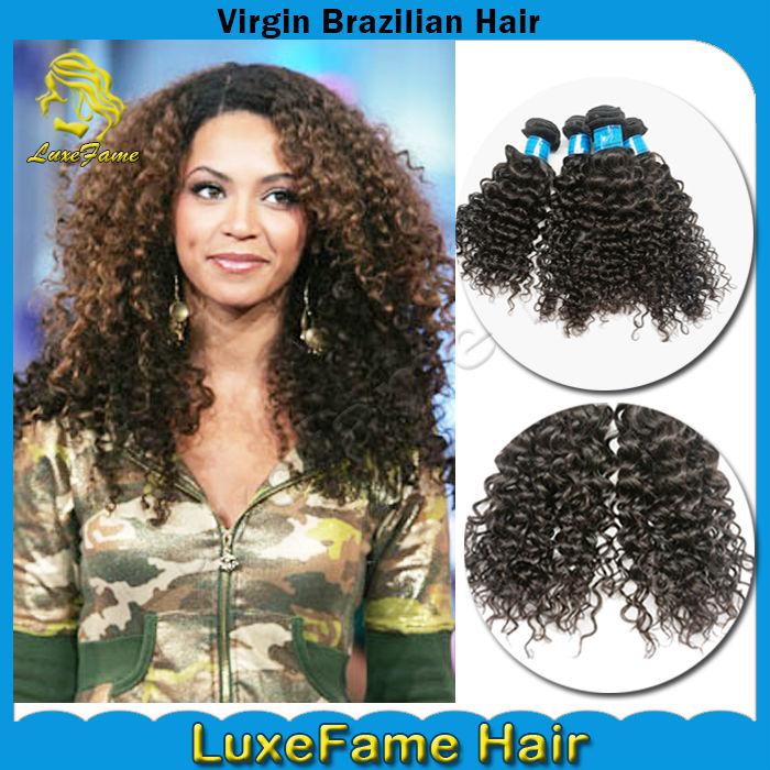 Guangzhou full cuticle and can be dyed 100% virgin brazilian hair jerry curl