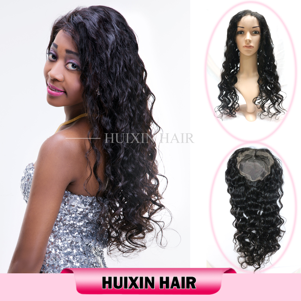 Wholesale 100% Unprocessed Human Hair Wigs For Black Women Cheap Brazilian Human Hair Wavy Full Lace Wig
