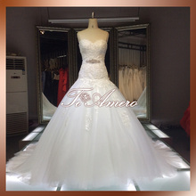 Bridal changing dresses sequin dress beautiful lace cathedral/ royal train wedding dresses