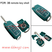 Plastic key cover with blade of flip key shell for 3buttons VW