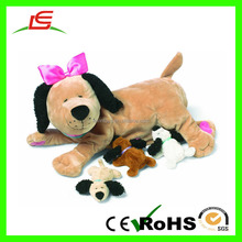 D1054 Plush Nursing Nana Dog Nurturing Soft Toy