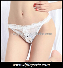 White bowknot open crotch string G-string on sale