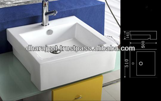 Square white marble cabinet sink table top wash basin / art basin hand wash sink prices